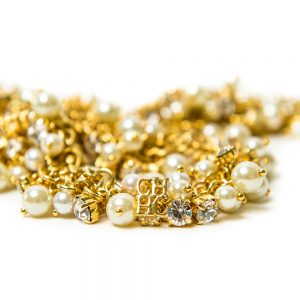 Carolina Herrera Gold & Pearl Necklace