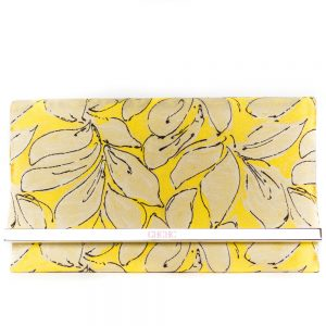 Carolina Herrera Brocade Yellow Clutch