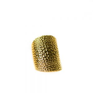 Fendi Hammered Gold-Plated Bracelet
