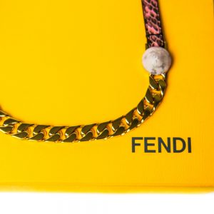 Fendi Snakeskin Gold-Plated Necklace
