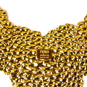 Fendi Hammered Gold-Plated Necklace