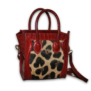 Red Crocodile and Panther Tote