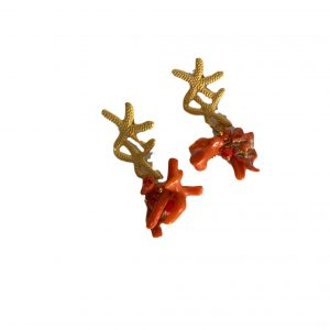Coral eearrings