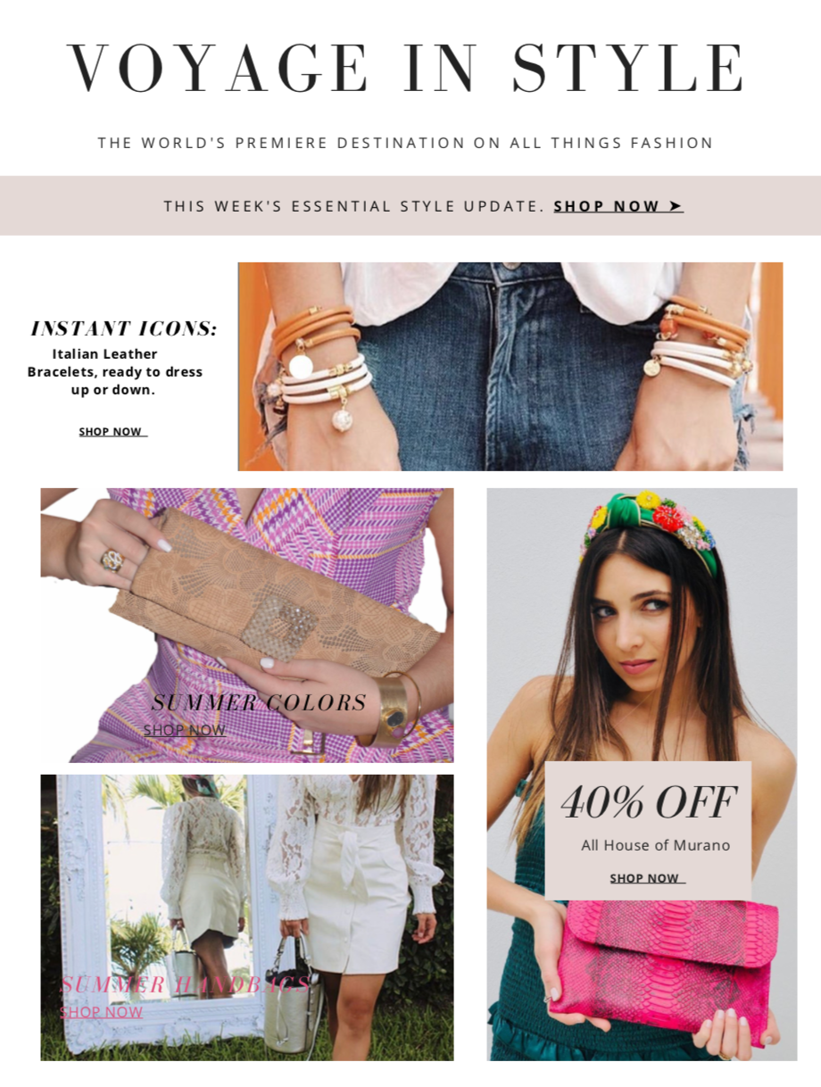 Voyage in Style Newsletter 1